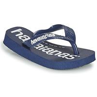 Schoenen Jongens Slippers Havaianas Top Logomania Marine