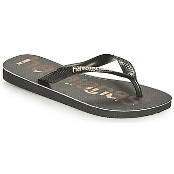 Schoenen Slippers Havaianas TOP LOGOMANIA Zwart