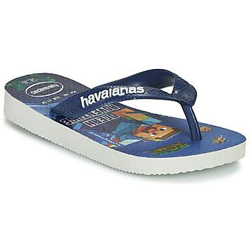 Schoenen Jongens Slippers Havaianas KIDS MINECRAFT Blauw
