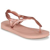 Schoenen Meisjes Slippers Havaianas LUNA MINI ME Roze