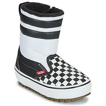 Schoenen Kinderen Snowboots Vans YT SLIP-ON SNOW BOOT MTE Zwart / Wit