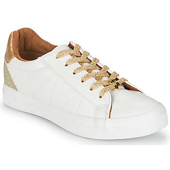 Schoenen Dames Lage sneakers Le Temps des Cerises VIC Wit / Goud
