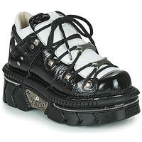 Schoenen Dames Lage sneakers New Rock M-106N-S76 Zwart / Wit