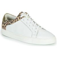 Schoenen Dames Lage sneakers Les Tropéziennes par M Belarbi LOUANE Wit / Leopard