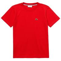 Textiel Jongens T-shirts korte mouwen Lacoste TJ1442-F8M-J Rood