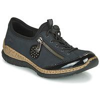 Schoenen Dames Derby Rieker N3268-01 Blauw / Zwart