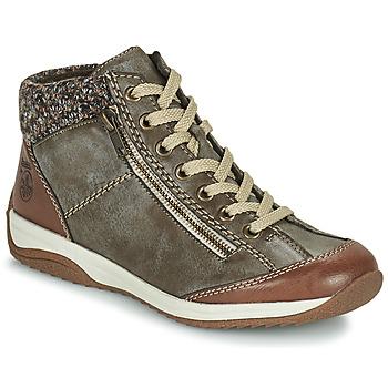Schoenen Dames Laarzen Rieker L5223-24 Brown