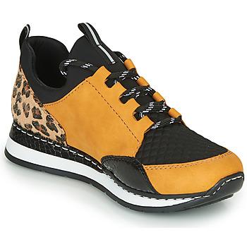 Schoenen Dames Lage sneakers Rieker TENUA Cognac / Zwart