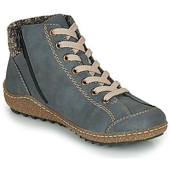 Schoenen Dames Laarzen Rieker L7543-14 Blauw