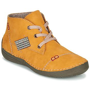 Schoenen Dames Laarzen Rieker 52543-69 Geel
