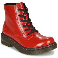 Schoenen Dames Laarzen Rieker 76240-33 Rood