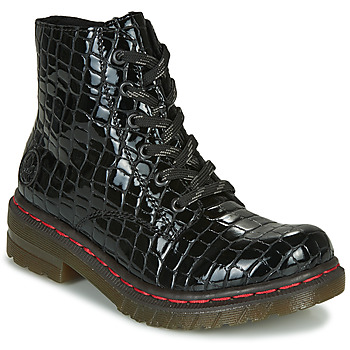 Schoenen Dames Laarzen Rieker 76246-00 Zwart