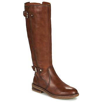 Schoenen Dames Hoge laarzen Pikolinos ALDAYA W8J Brown