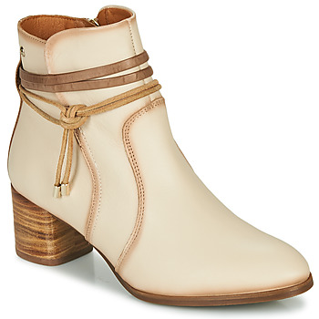 Schoenen Dames Enkellaarzen Pikolinos CALAFAT W1Z Beige / Brown