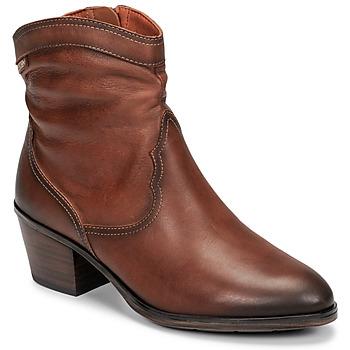Schoenen Dames Enkellaarzen Pikolinos CUENCA W4T Brown