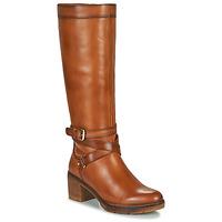 Schoenen Dames Hoge laarzen Pikolinos LLANES W7H Brown