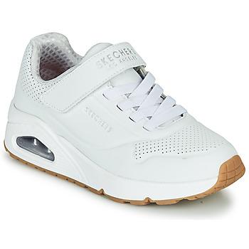 Schoenen Kinderen Lage sneakers Skechers UNO Wit
