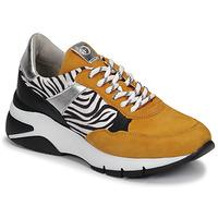 Schoenen Dames Lage sneakers Tamaris ELLE Mosterd / Zwart / Zebra