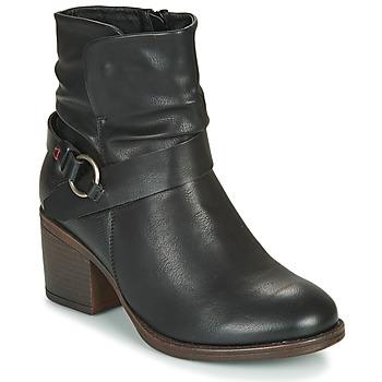 Schoenen Dames Enkellaarzen Emmshu FLEUR Zwart