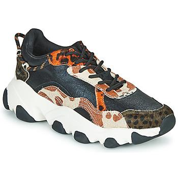 Schoenen Dames Lage sneakers Gioseppo ALEKSIN Zwart / Orange