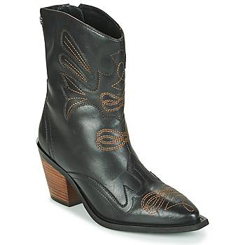 Schoenen Dames Enkellaarzen Gioseppo SERAING Zwart / Brown