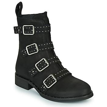 Schoenen Dames Laarzen Ikks URBAN RANGERS Zwart