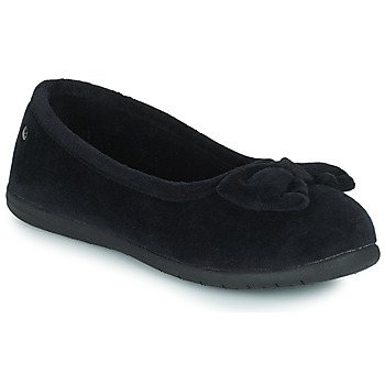 Schoenen Dames Sloffen Isotoner 97258 Zwart