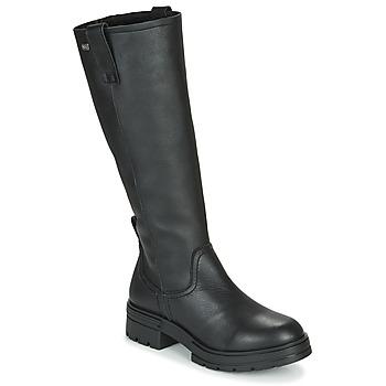 Schoenen Dames Hoge laarzen Musse & Cloud GEORGETE Zwart