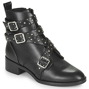 Schoenen Dames Laarzen Only BRIGHT 14 PU STUD BOOT Zwart