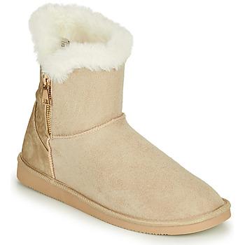 Schoenen Dames Laarzen Only BREEZE 1 ZIP BOOT Beige
