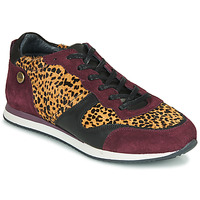 Schoenen Dames Lage sneakers Pataugas IDOL/I F4E Bordeaux / Leopard