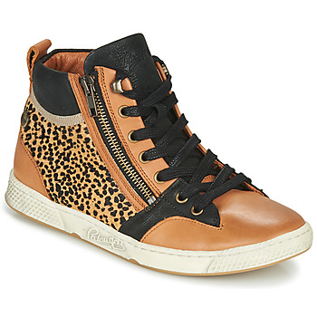 Schoenen Dames Hoge sneakers Pataugas JULIA/PO F4F Cognac / Leopard