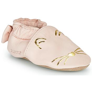 Schoenen Meisjes Sloffen Robeez GOLDY CAT Roze / Goud
