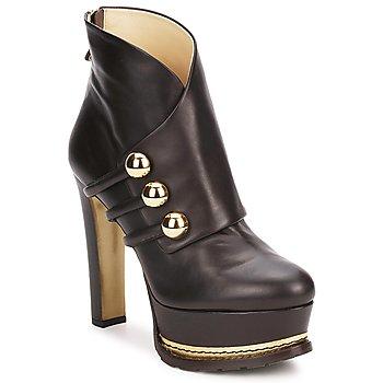 Schoenen Dames Enkellaarzen Moschino MA2104 Dark / Bruin