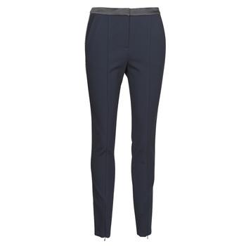 Textiel Dames 5 zakken broeken Karl Lagerfeld PUNTO PANTS W/ LOGO TAPE Marine / Zwart
