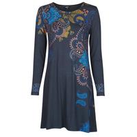 Textiel Dames Korte jurken Desigual WASHINTONG Blauw