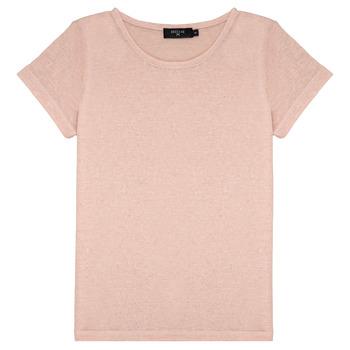 Textiel Meisjes T-shirts korte mouwen Deeluxe GLITTER Roze