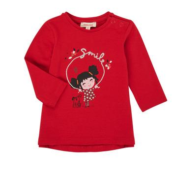 Textiel Meisjes T-shirts met lange mouwen Catimini CR10043-38 Rood