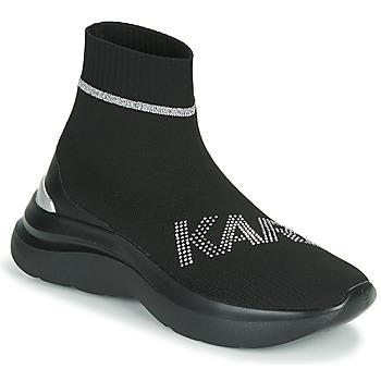 Schoenen Dames Hoge sneakers Karl Lagerfeld SKYLINE KARL RHINESTONE PULL ON BT Zwart
