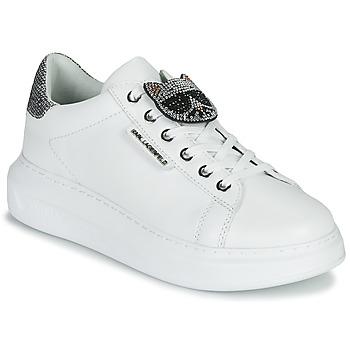 Schoenen Dames Lage sneakers Karl Lagerfeld KAPRI IKONIC TWIN LO LACE Wit / Lthr / Zilver