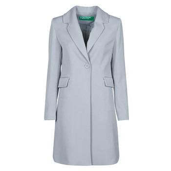 Textiel Dames Mantel jassen Benetton 2AMH5K2R5 Grijs