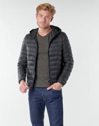 Textiel Heren Dons gevoerde jassen Benetton 2BA253EU8 Zwart