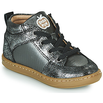 Schoenen Meisjes Hoge sneakers Shoo Pom BOUBA GANG Zilver