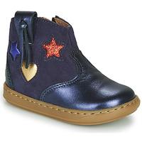 Schoenen Meisjes Hoge sneakers Shoo Pom BOUBA WEST Blauw