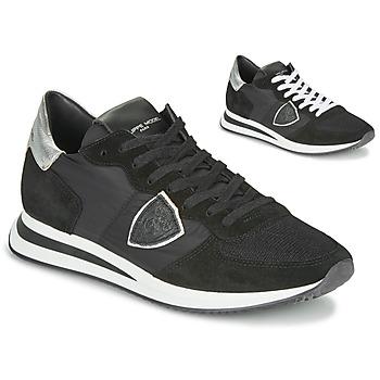 Schoenen Dames Lage sneakers Philippe Model TROPEZ X BASIC Zwart / Zilver