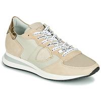 Schoenen Dames Lage sneakers Philippe Model TROPEZ X MONDIAL CROCO Beige