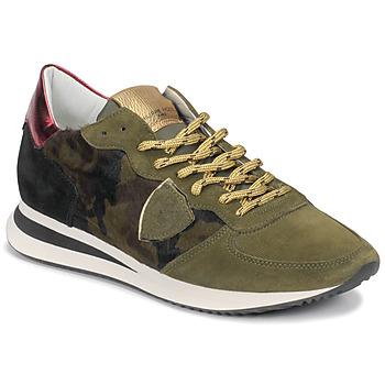 Schoenen Dames Lage sneakers Philippe Model TROPEZ Camouflage