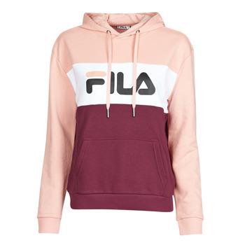 Textiel Dames Sweaters / Sweatshirts Fila LORI HOODY Roze / Wit