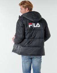 Textiel Heren Dons gevoerde jassen Fila SCOOTER PUFFER JACKET Zwart