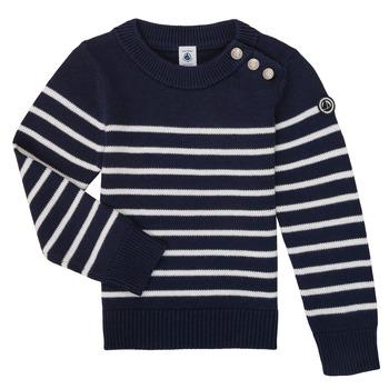 Textiel Kinderen Truien Petit Bateau LOX Marine / Wit